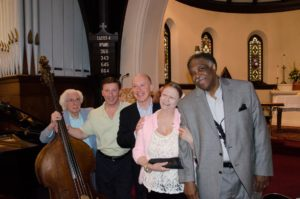 Jerry Bruno, Charlie Russo, Conal Fowkes, Judi Marie Canterino, and Houston Person at Church of the Holy Communion, Norwood, NJ on April 20, 2013.